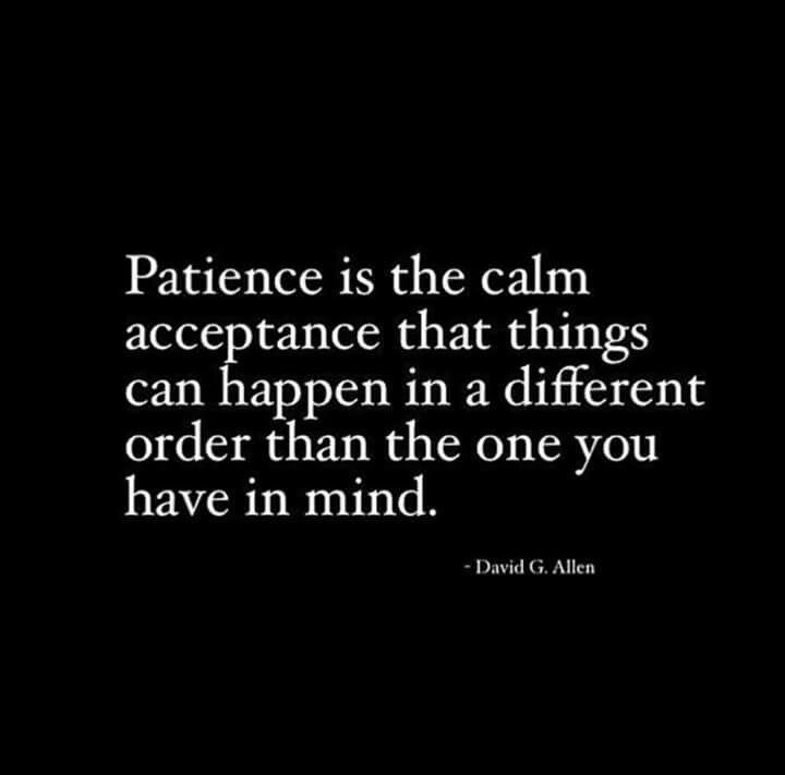 Calm acceptance