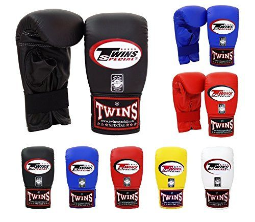 Twins Special Muay Thai Training Bag Gloves TBGL 1F Full Thumb and TBGL 1H Half Thumb Size: Meduim Large Color: Black Blue Red White Yellow Orange green Bag boxing gloves for Muay Thai Boxing MMA K1