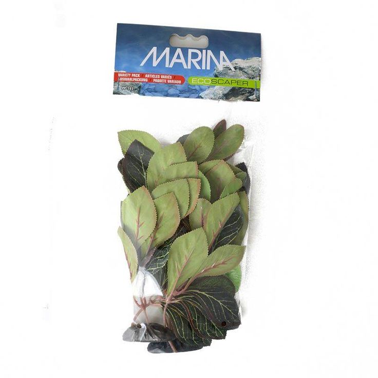 Marina EcoScaper Silk Plant Variety Pack features a true to nature design that undulates with currents. Silk plants feature beautiful color variation. Completely safe for all aquarium occupants. Easy to install and wash.