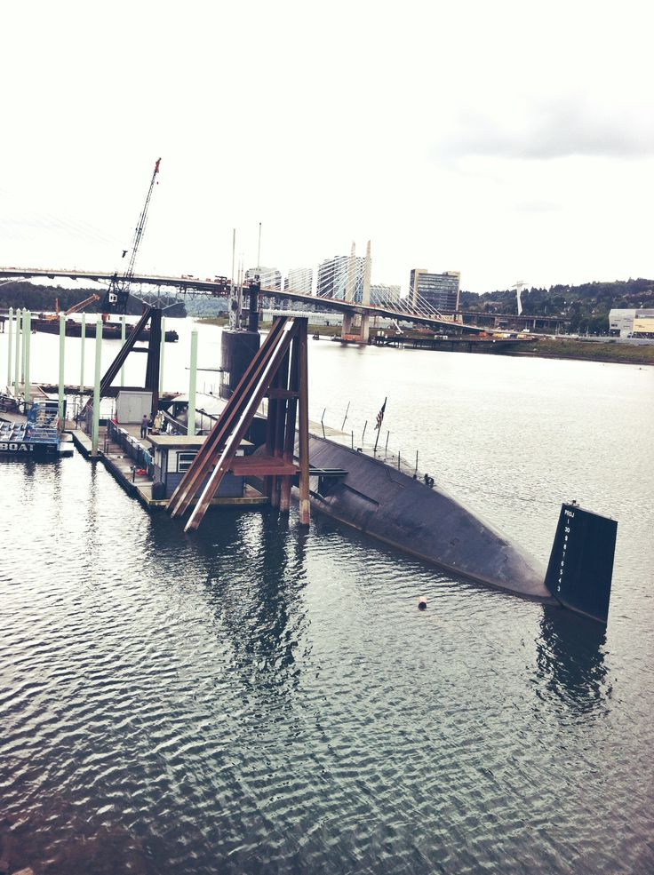 submarine, downtown Portland