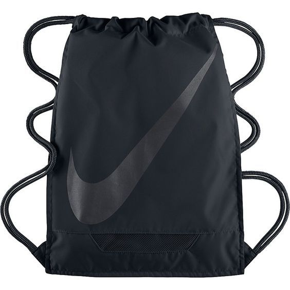 Nike FB 3.0 Gymsack Sack Pack ($18) ❤ liked on Polyvore featuring bags, backpacks, black, school & day hiking backpacks, day pack backpack, draw string bag, nike bag, drawstring backpack bags and draw string backpack: