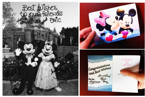send wedding invites to the prez, mickey and mini, and the pope and they will send you a card