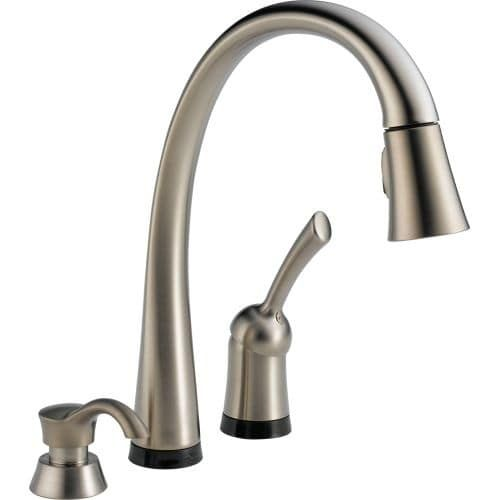 Delta 980T SD DST Pilar Pull Down Kitchen Faucet With On/Off