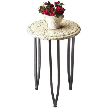 Butler Crackle Metal Accent Table, Multicolor