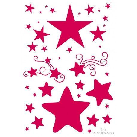 pochoir etoiles rondes et pointues a4 etoiles stars pinterest pochoir etoile pochoir. Black Bedroom Furniture Sets. Home Design Ideas
