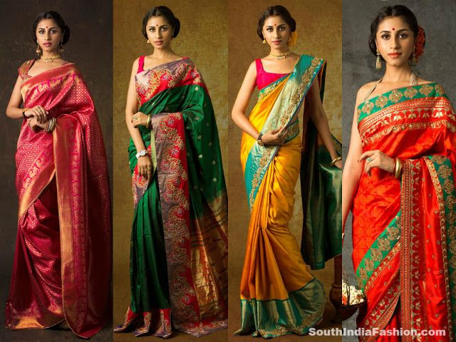 Exquisite Traditional Sarees by Bhargavi Kunam Celebrity Sarees, Designer Sarees, Bridal Sarees, Latest Blouse Designs 2014 South India Fash...