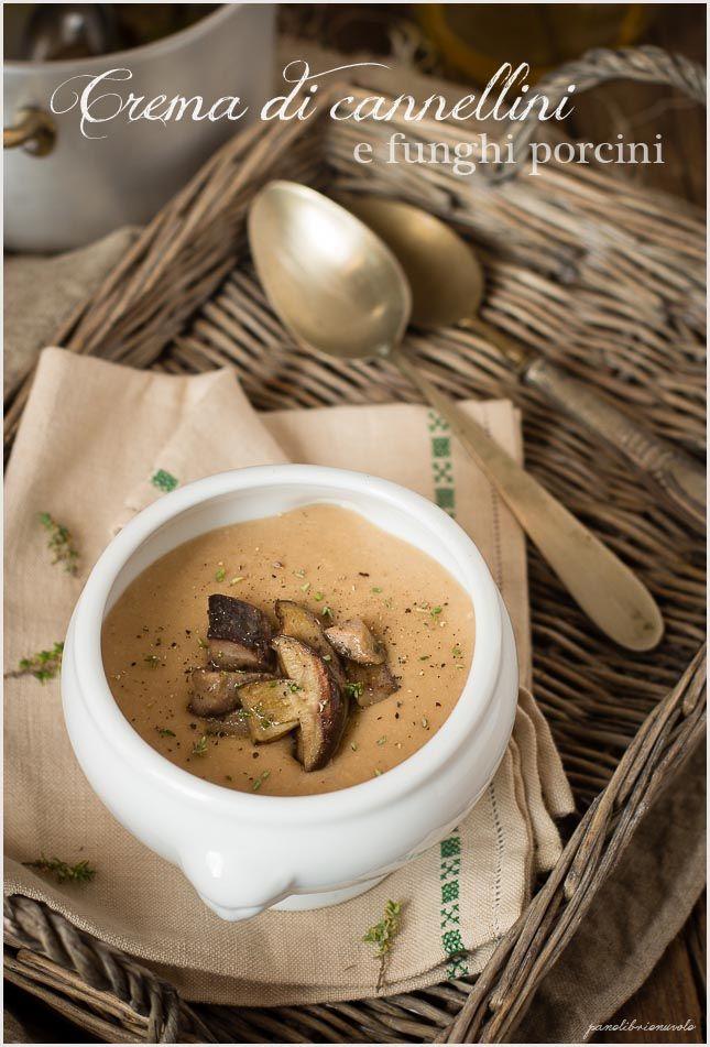 Crema di fagioli cannellini e funghi porcini