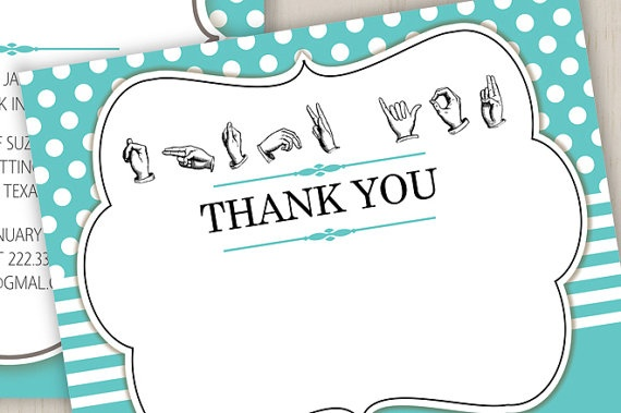 thank you sign language hands flat note cardeloyce929