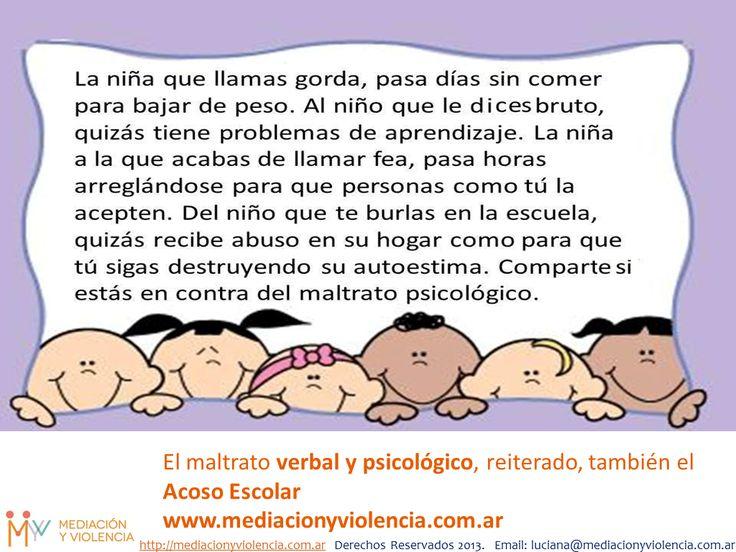 Campaña Argentina de Acoso Escolar, Dile No al Acoso Escolar! http://mediacionyviolencia.com.ar/campana-argentina-de-acoso-escolar-decile-no-al-acoso-escolar/