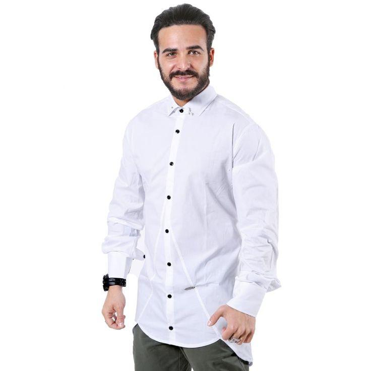 STEFAN Slim Fit Fashion Πουκάμισο, Ιταλική Σχεδίαση