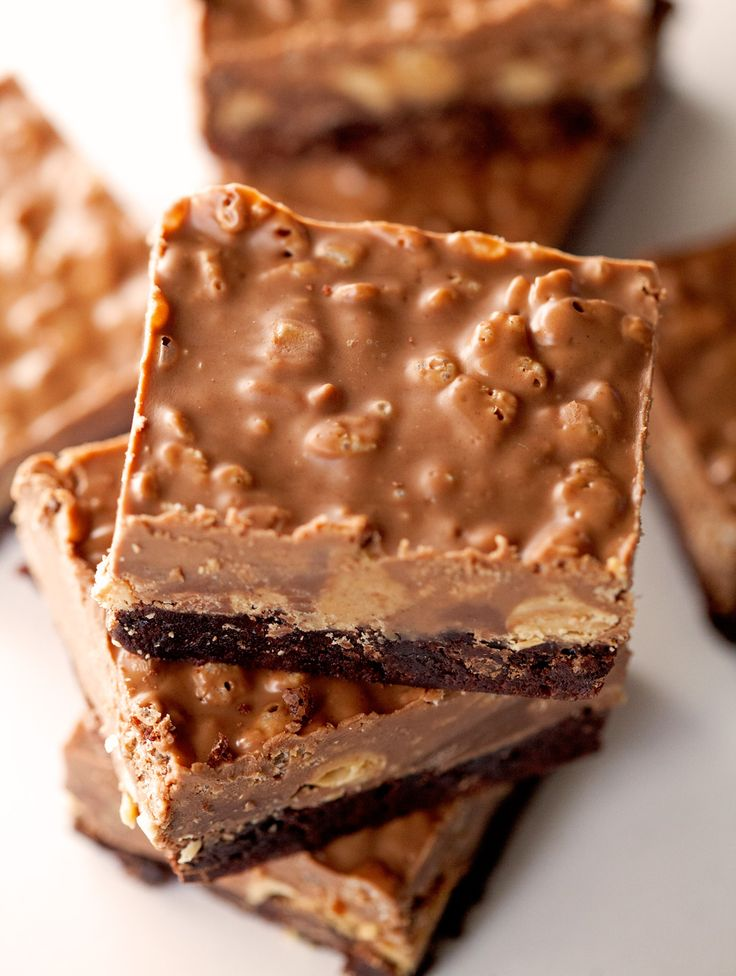 Crispy Peanut Butter Cup Brownies by Kathi