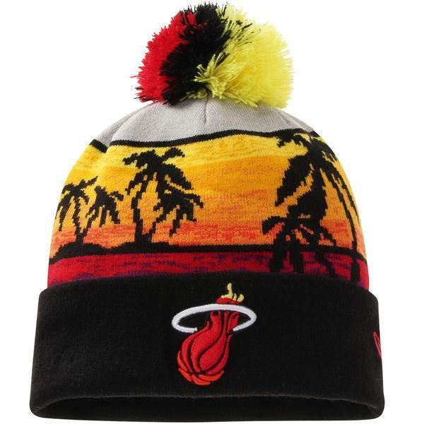 Mens / Womens Miami Heat New Era Hardwood Classics Winter 2016 NBA Sports  Fashion Beachin Cuffed