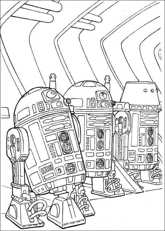 Star Wars Astero Droids Coloring Page
