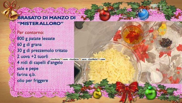 La ricetta del brasato di manzo di Sergio Barzetti del 10 dicembre 2014 – La prova del cuoco