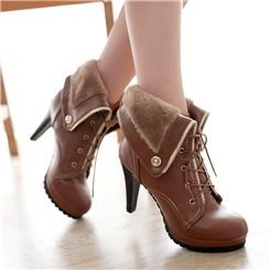 Fashion All-matched Roman Style Women Boots 2014 Ankle Boots- ericdress.com 10708323