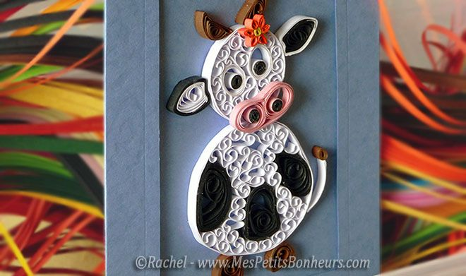 vache en quilling tutoriel bricolage pinterest paperolles b b et bricolage. Black Bedroom Furniture Sets. Home Design Ideas