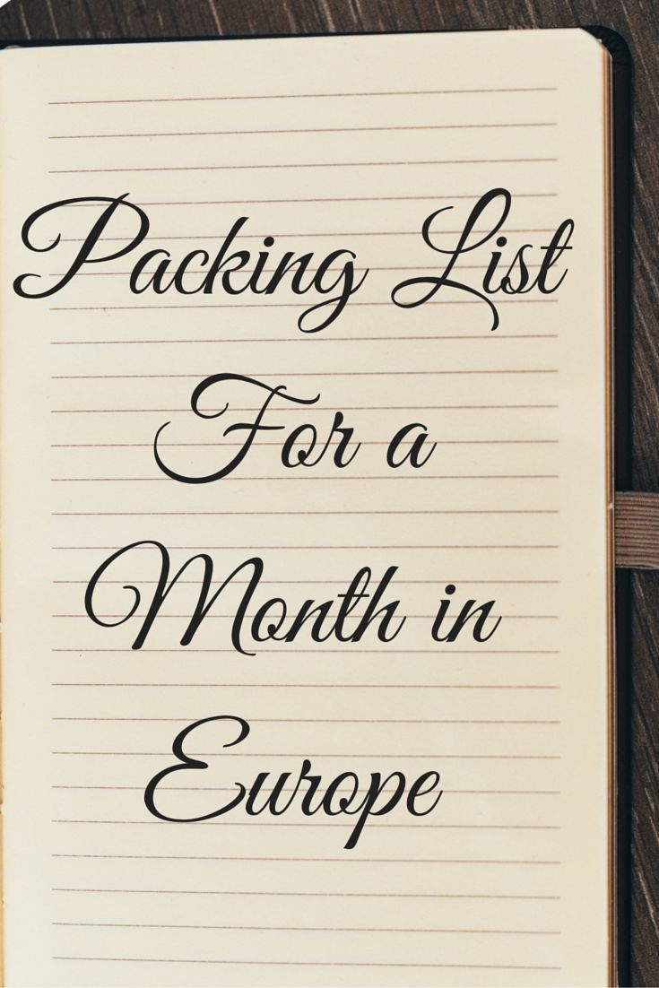 Packing List | Europe Travel | What to Pack | Packing necessities | Travel gear | Travel Europe | Travel needs | Packing tips