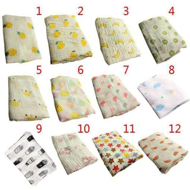 Infant Newborn Baby Soft Muslin Cotton Swaddling Blanket Swaddle Wrap Bath Towel