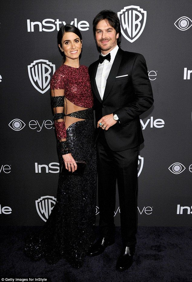 Perfect pair: Nikki Reed and Ian Somerhalder arrived in style at the Warner Bros. Pictures and InStyle Golden Globes afterparty at the Beverly Hilton Hotel in Los Angeles on Sunday night
