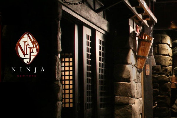 "Imagine ninjas serving your Japanese/French/American fusion cuisine in a private nook of a subterranean feudal Japanese castle. You enter via through a dark path beset with armed ""ninjas."""