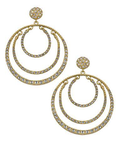 Seraphina Crystal Triple Hoop Earrings #maxandchloe
