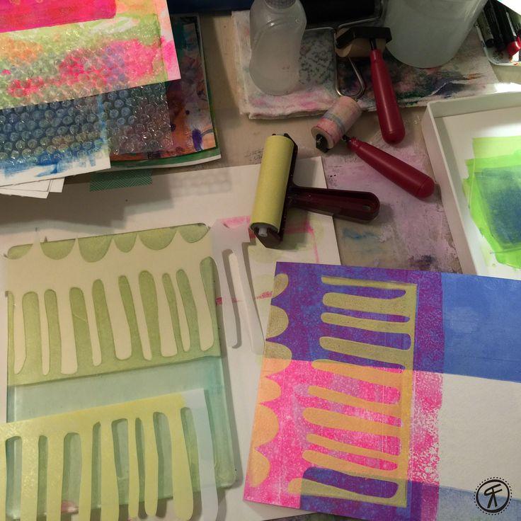 nobis tablet Rachel Fontenot   Gelli Plate Printing   acrylic   paint   printmaking