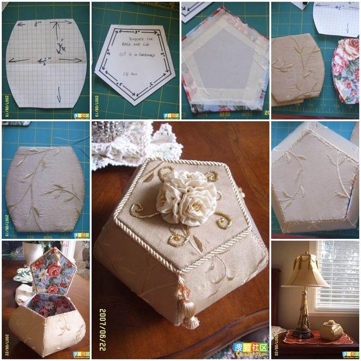 DIY Beautiful Pentagon Cardboard Storage Box