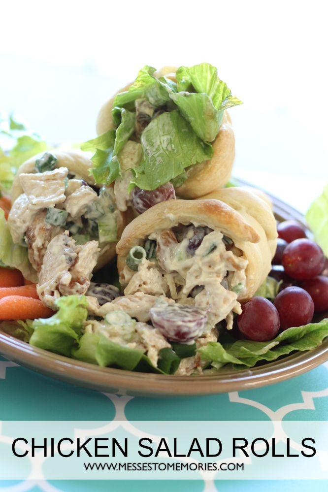 Chicken Salad Stuffed Bread Cones. Fresh, fit and fun!