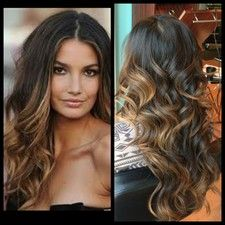 Lily Aldridge inspired highlights with Victorias Secret curls