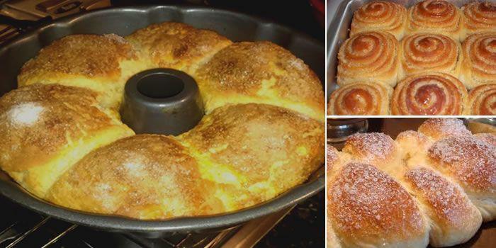 Hoje vamos mostrar duas receitas de rosca doce, uma com massa que leva leite condensado, e outra receita com recheio de leite condensado e cobertura de coco.