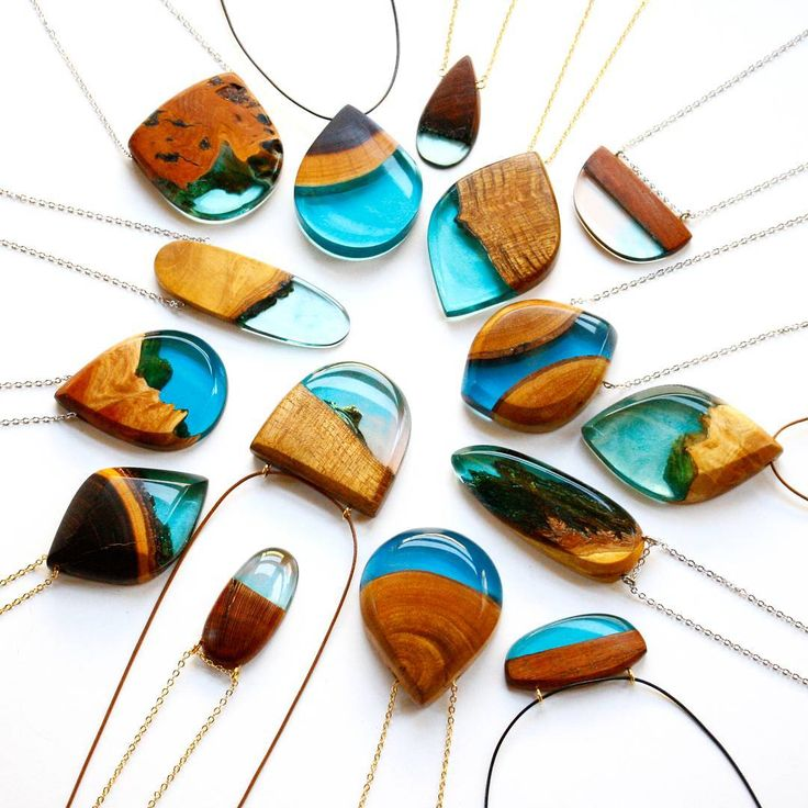 "369 Likes, 8 Comments - Britta Boeckmann (@brittaboldb) on Instagram: ""A batch of blue pendants! These are now on BoldB.etsy.com #pendant #necklace #wood #wooden #gift…"""