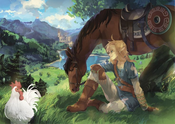 The Legend of Zelda, Link and Epona / 「WIIU リンク」/「ram」のイラスト [pixiv]