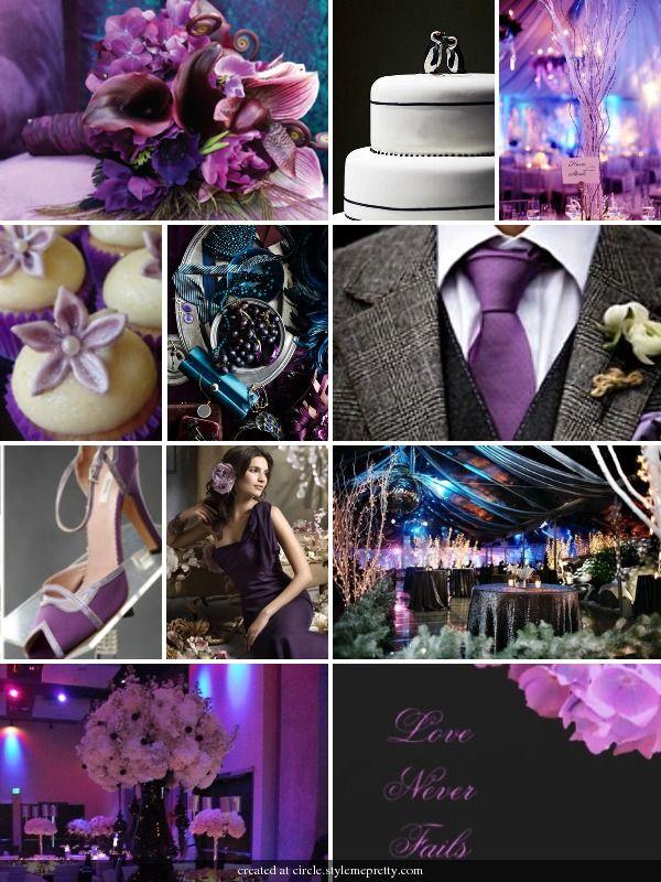 Purple, grey, teal, and black: Purple Grey, Wedding Stuff, Weddings, Purple Wedding, Wedding Colors, Dream Wedding, Teal Wedding Ideas, Purple Teal Grey Wedding, Future Wedding