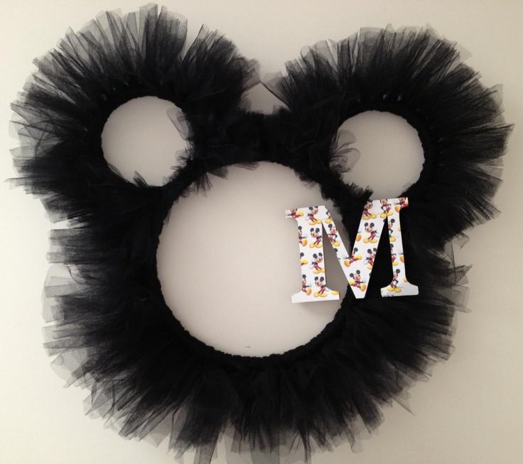 Mickey Mouse Tulle Wreath. $35.00, via Etsy.