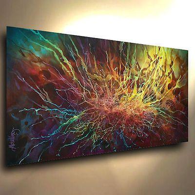 original-PAINTING-MODERN-abstract-Contemporary-ART-DECOR-Mix-Lang-cert-unique