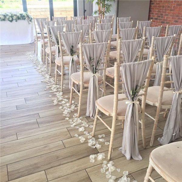 24 Wedding Chair Decorations You Will Like Amaze Paperie In 2020 Chair Covers Wedding Wedding Chair Decorations Wedding Chair Sashes