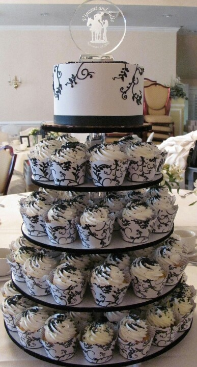 two tier cupcake wedding cake cupcake wedding cake in purple with two tier cake 21336