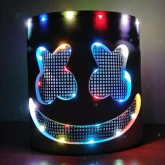 2019 Dj Marshmello Mask Cosplay Led Helmet Halloween Prop Masks