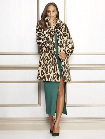 0f36a861ee06 Shop Eva Mendes Collection - Leopard-Print Felice Coat. Find your perfect  size online at the best price at New York & Company.