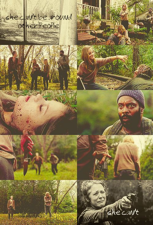 Most emotional part of all 4 seasons of The Walking Dead. I've never cried so much in one episode. And the worst part is I watched this at a friends house and I balled my eyes out.