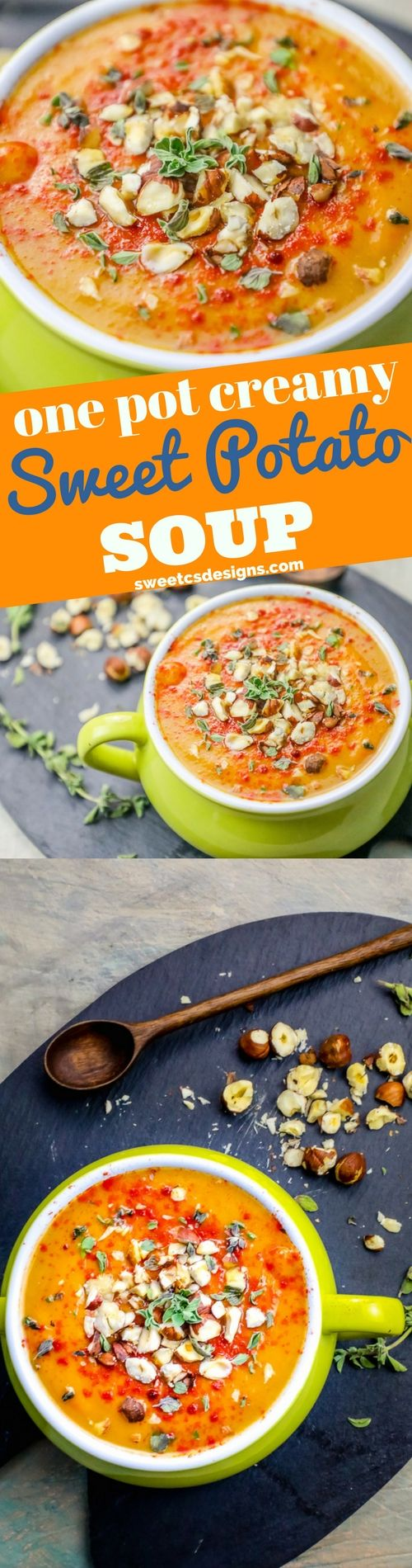 Creamy Sweet Potato Soup with Hazelnuts ⋆ Sweet C's Designs
