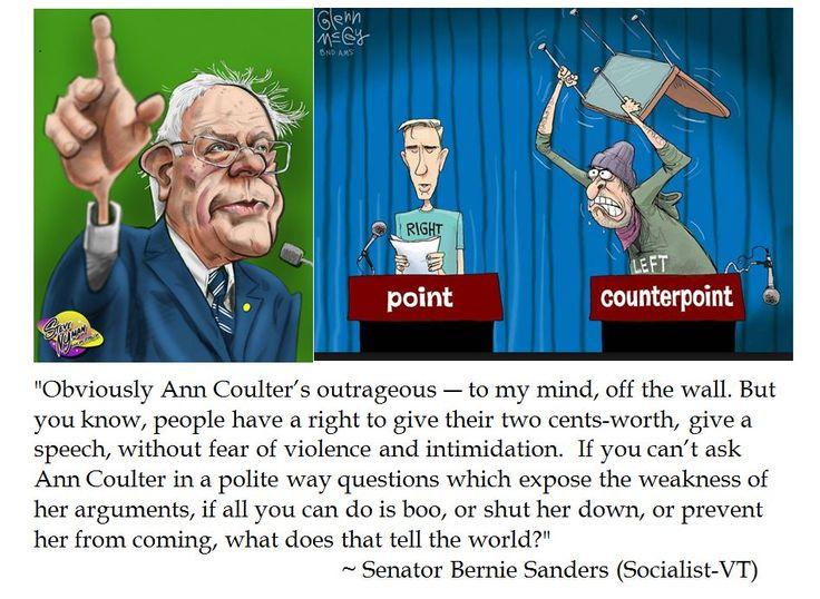 Senator Bernie Sanders on Free Speech at UC Berkeley and Ann Coulter