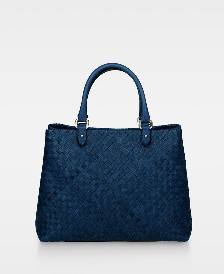 DECADENT Piper Woven handbag, Navy