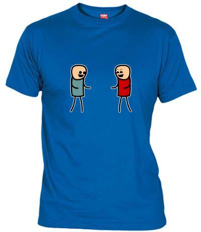 Camiseta de 2 personajes de la ácida tira cómica de internet Cyanide & Happiness (Cianuro y Felicidad)