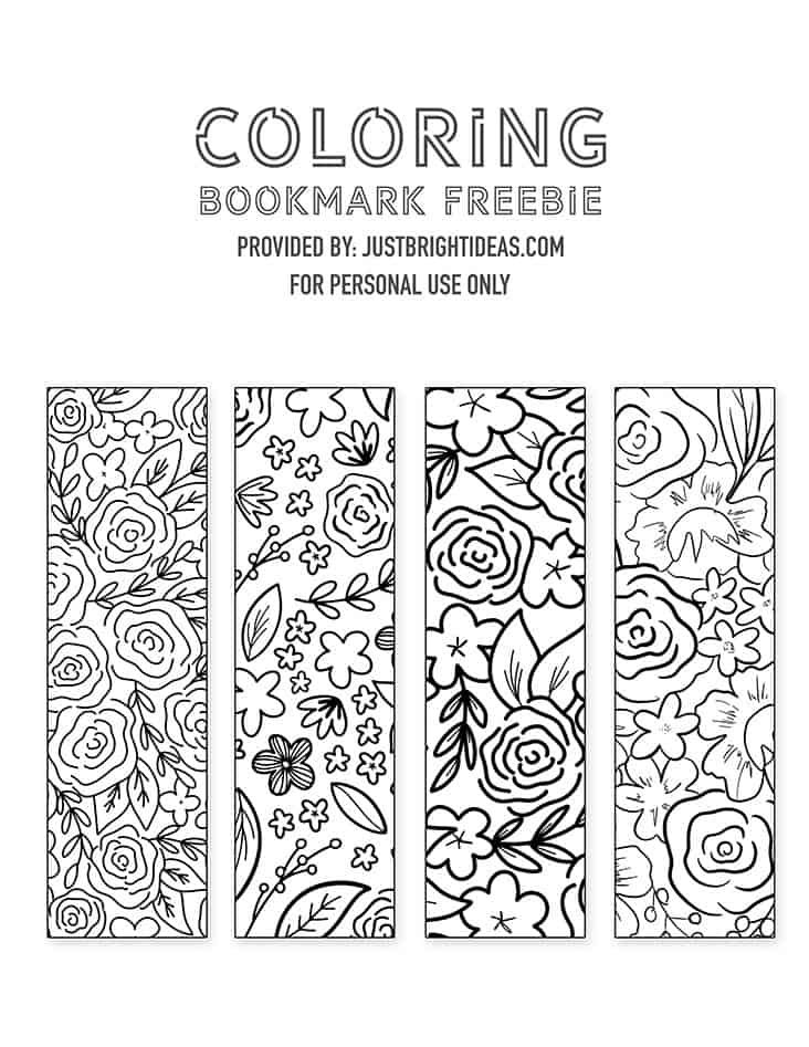Free Printable Floral Bookmarks You Can Print Out And Color In Free  Printable Bookmarks, Coloring Bookmarks Free, Bookmarks Printable