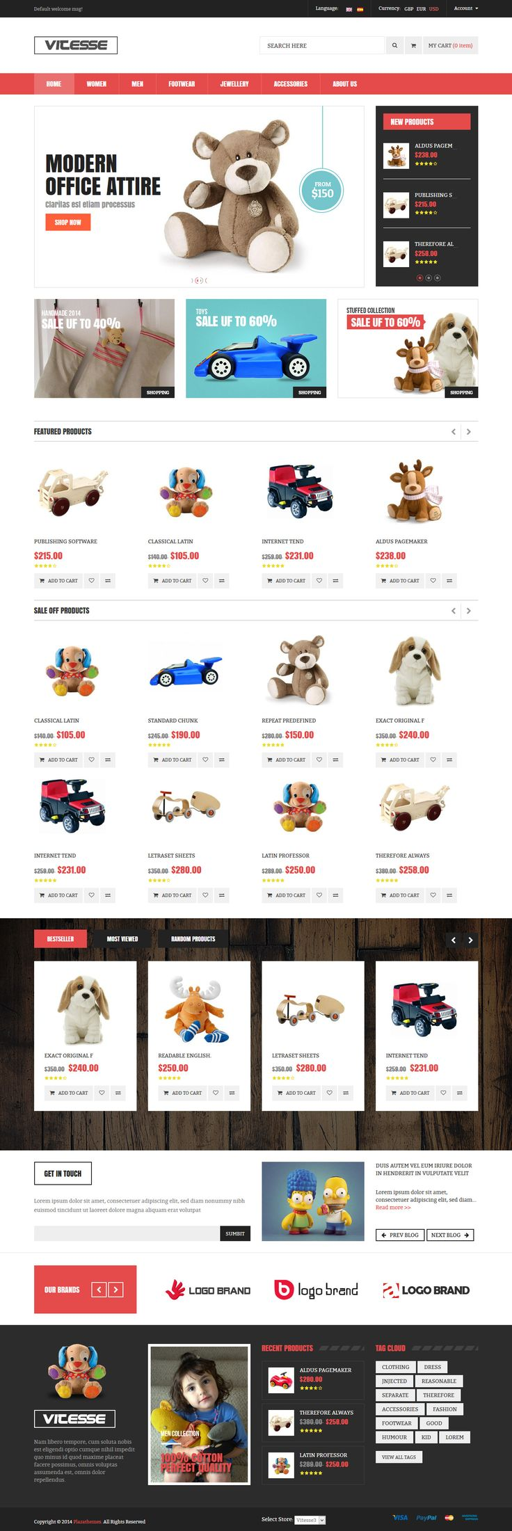 Responsive Multi Store Magento Theme #ecommerce #website Download: http://themeforest.net/item/vitesse-responsive-multi-store-magento-theme/9528920?ref=ksioks