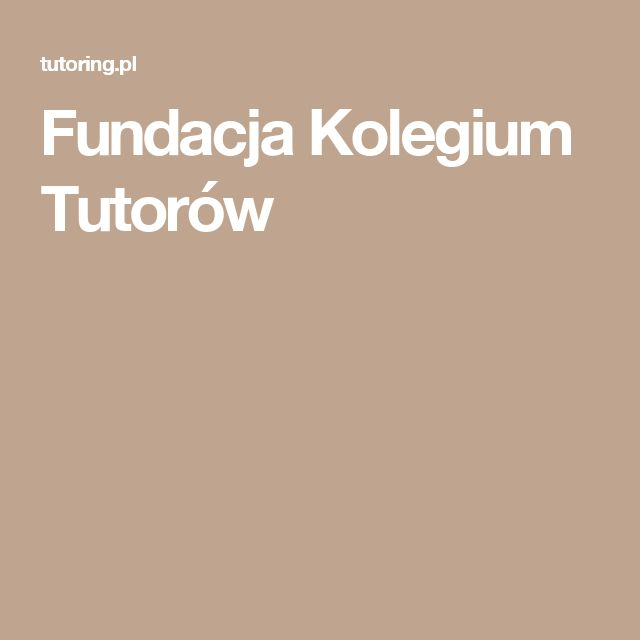 Fundacja Kolegium Tutorów