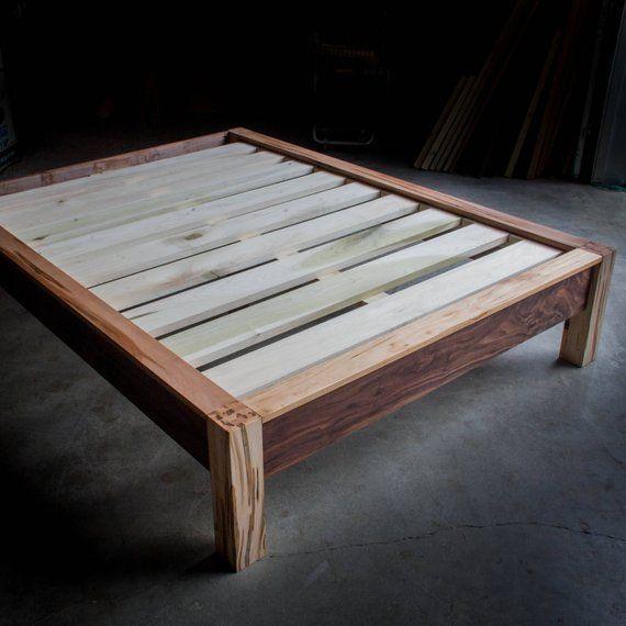 Chunky Leg Ledge Platform Bed Frame Custom Made Of American Etsy