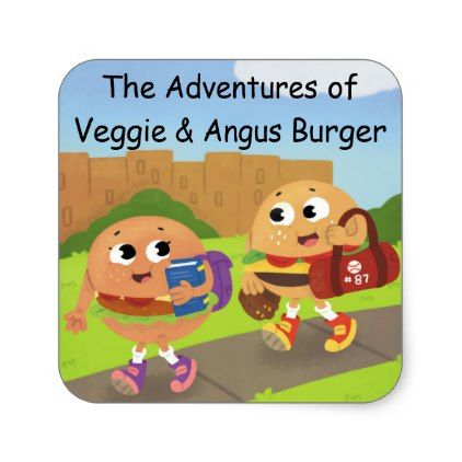 Veggie Angus Stickers
