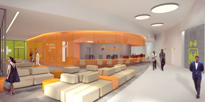 Medicus - Lower Silesian Centre for Laryngology and Plastic Surgery - small clinic in Wrocław, Poland - design by Archimed Architecture - hospital, rendering